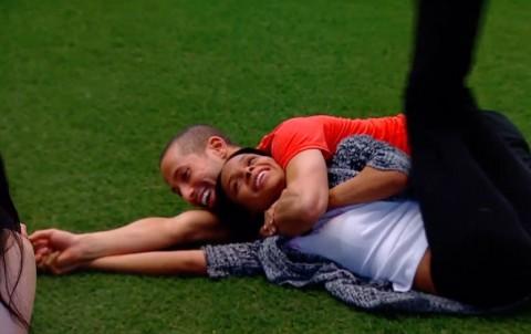 Adel & Ika wrestle on Big Brother Canada 2
