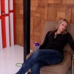Allison waits to try the hidden door